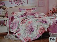 Сатиновое постельное белье евро ELWAY 4147