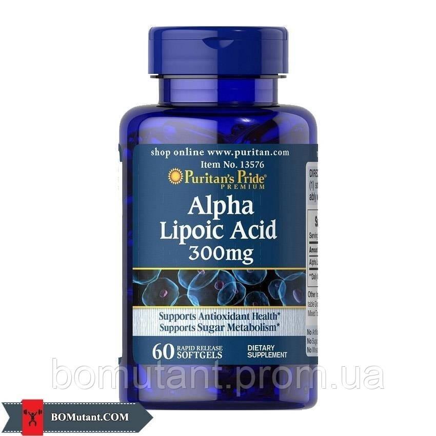 Alpha Lipoic Acid 300 mg 60капсулы Puritan's Pride шоколад-кокос