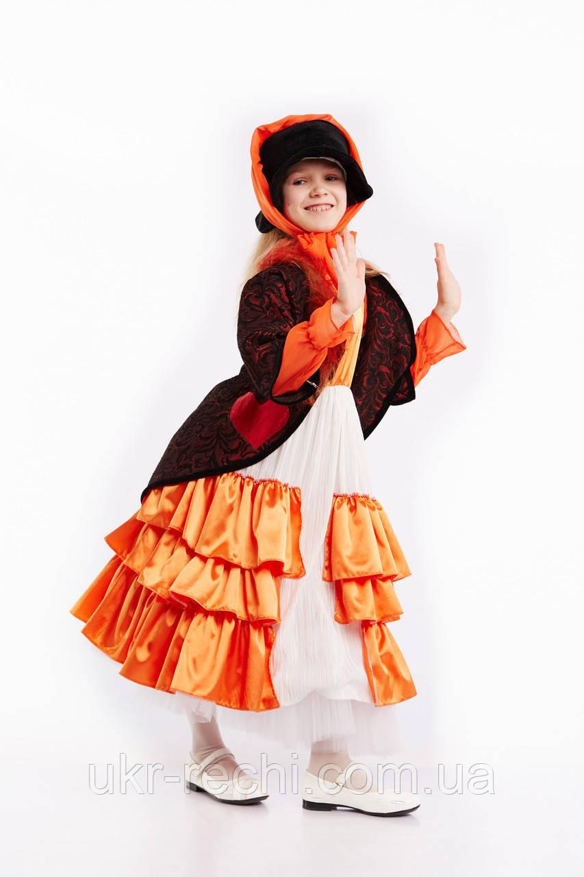 Детский карнавальный костюм Лиса Алиса код 1189