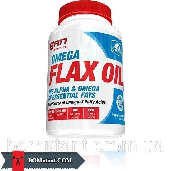 Omega Flax Oil 100капсулы SAN шоколад-кокос