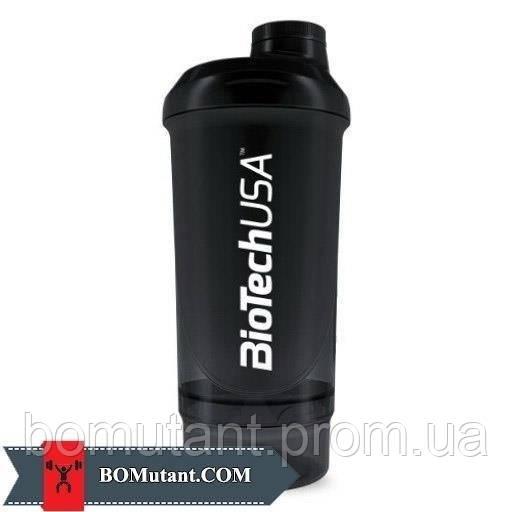Shaker Wave + 2 in 1 500ml BioTech красный/черный
