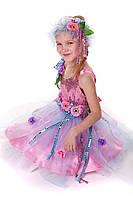 Детский карнавальный костюм Фея цветов розовая код 1270