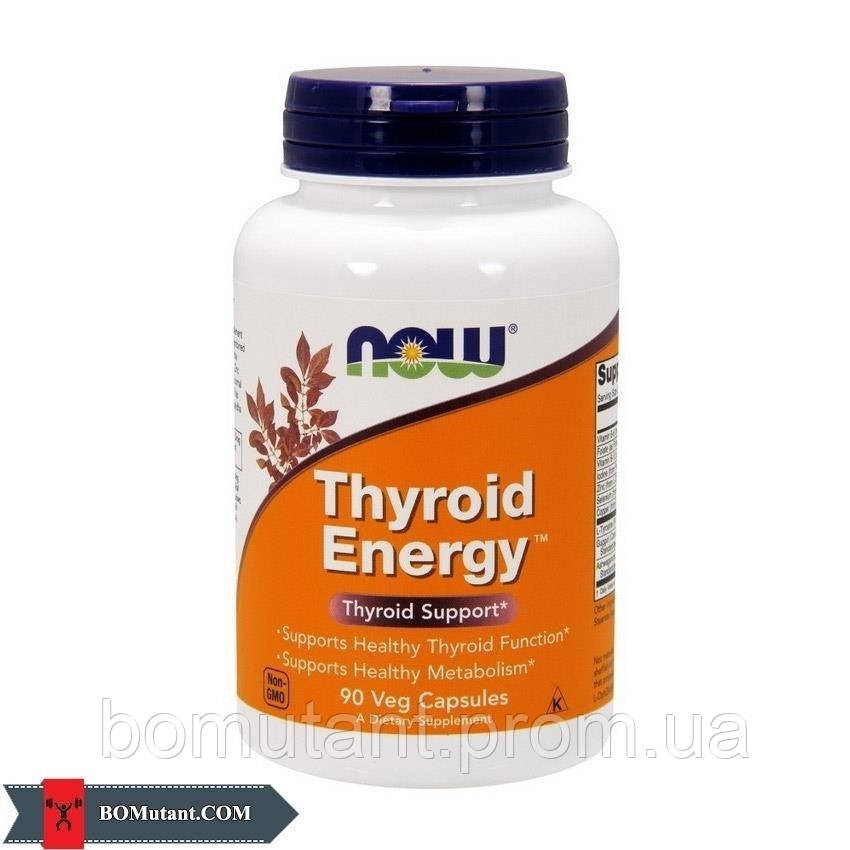 Thyroid Energy 90 vegveg caps NOW шоколад-кокос
