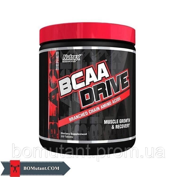 BCAA Drive 200таблетки Nutrex шоколад-кокос
