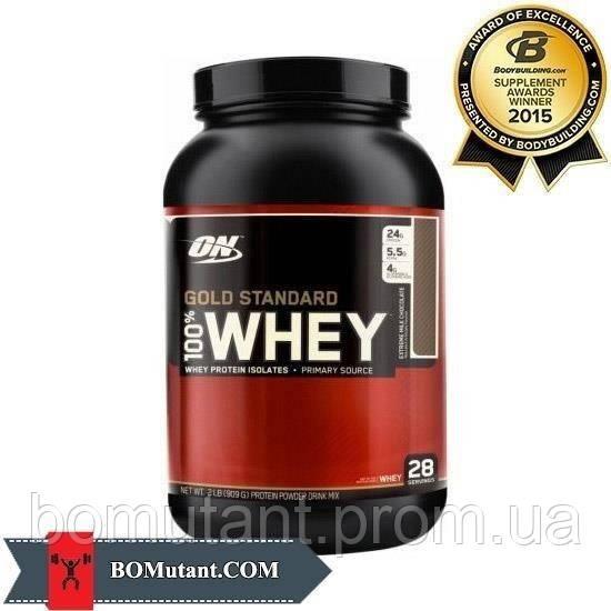 100% Whey Gold Standard 0,908кг Optimum Nutrition клубнично-банановый крем