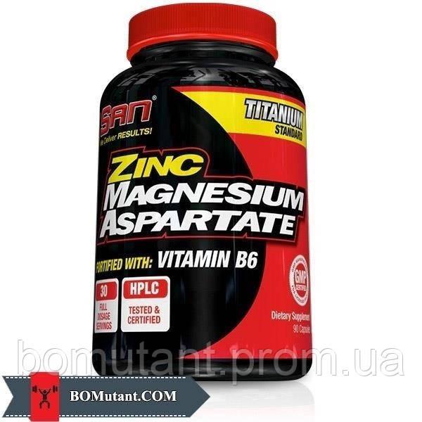 Zinc Magnesium Aspartate 90капсулы SAN шоколад-кокос