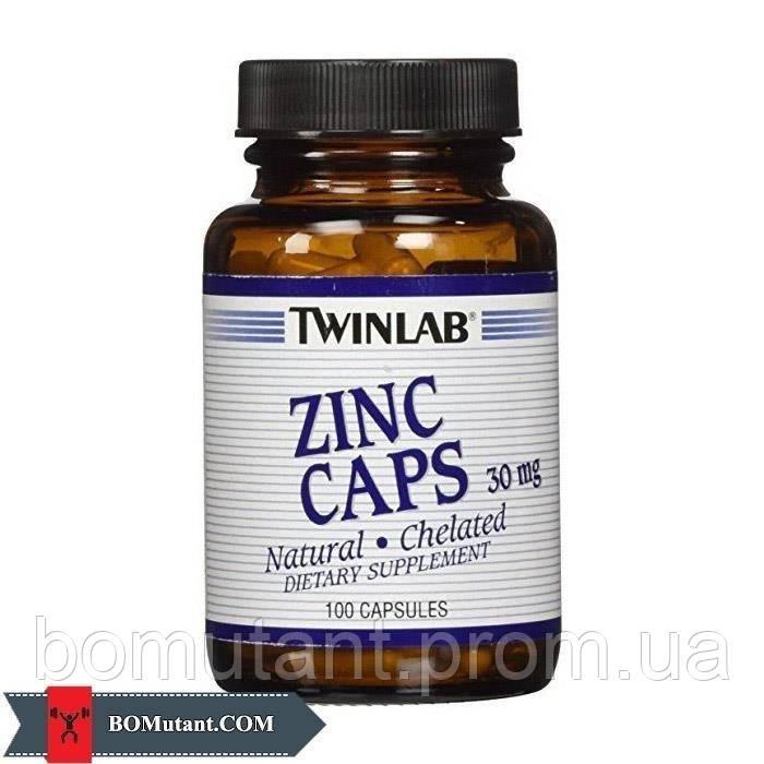 ZINC Caps 100капсулы Twinlab шоколад-кокос