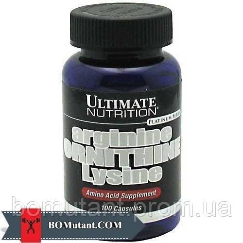 Arginine Ornithine Lysine 100капсулы Ultimate Nutrition шоколад-кокос