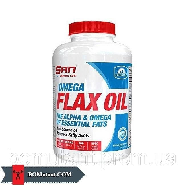 Omega Flax Oil 200капсулы SAN шоколад-кокос