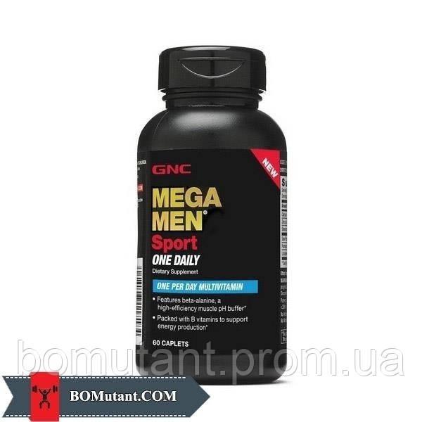 Mega Men Sport One Daily 60caplets GNC шоколад-кокос