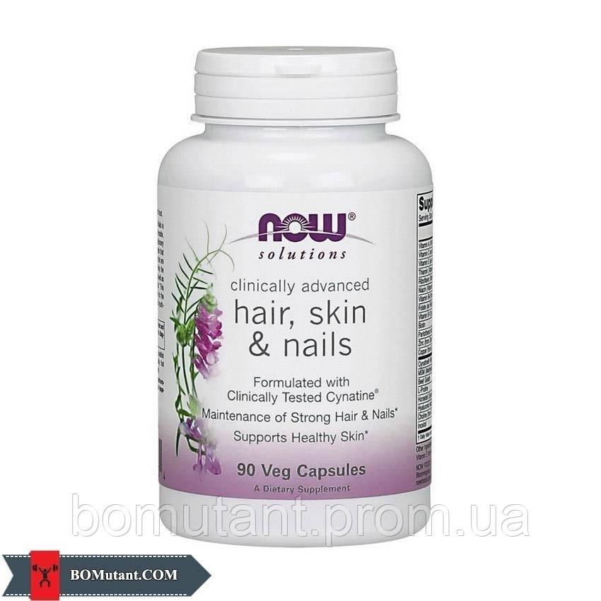 Hair, Skin & Nails 90капсулы NOW шоколад-кокос