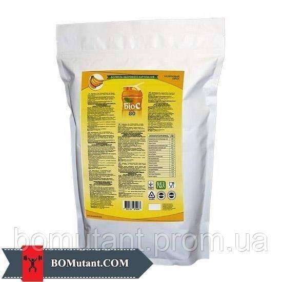 Концентрат молочного білка сухий 80% 1кг БИОС зі смаком полуниці