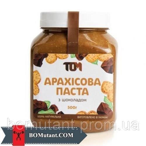 Арахісове Масло 0,500кг TOM peanut butter з шоколадом