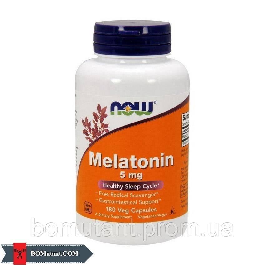 Melatonin 5 mg 180капсулы NOW шоколад-кокос