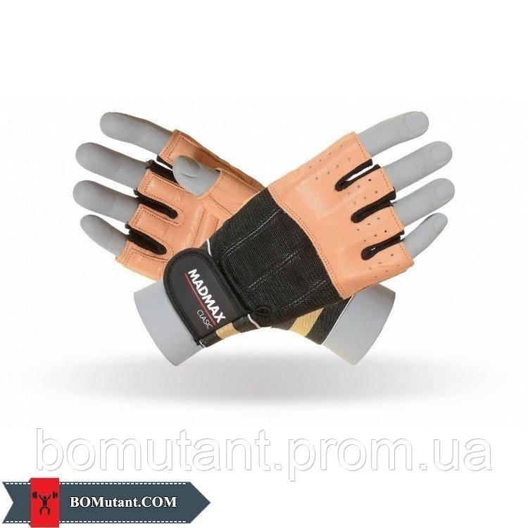 Clasic Workout Gloves MFG-248 размерM Mad Max коричневый/черный