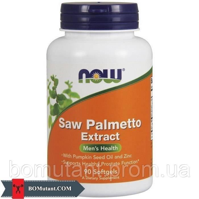 Saw Palmetto Extract 90капсулы NOW шоколад-кокос
