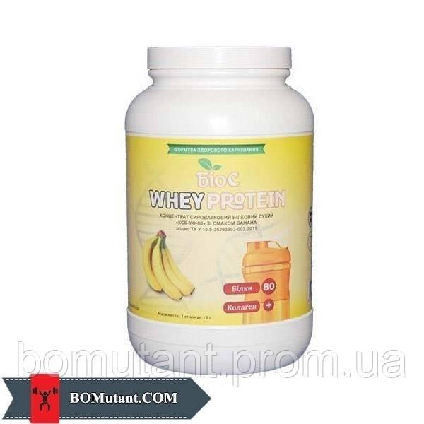 Whey Protein 80% 1кг БИОС банан з колагеном