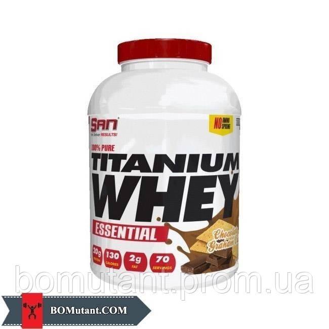 100% Pure Titanium Whey Essential 2,25кг SAN натуральная клубника