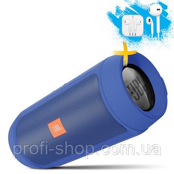 Портативная Bluetooth колонка JBL Charge 2+. Синяя. Blue