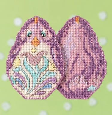 Набор для вышивки крестиком и бисером Purple Chick