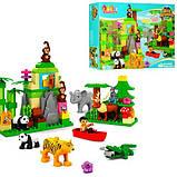 Конструктор крупные детали для малышей JDLT 5285 Большой Зоопарк 106 деталей, фото 4