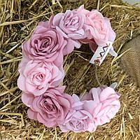 Ободок-веночек «Розовые розы»