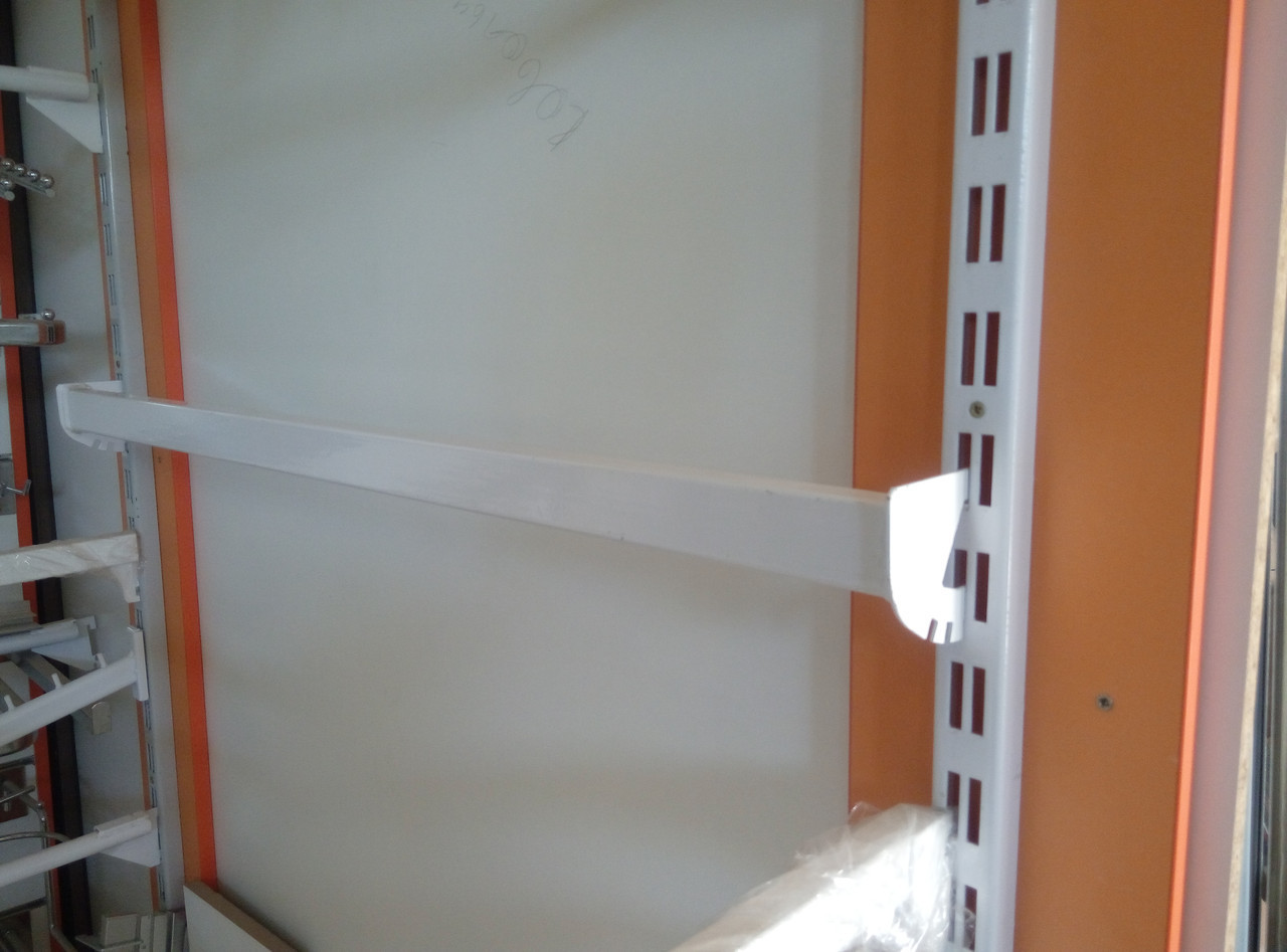 Перемичка (балка) 95см білого кольору для рейкового торгового обладнання виробництво Україна