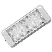 Світильник AquaLED Dome Light квадратний, з перемикачем 9.6 W, 12/24V