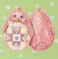 Набор для вышивки крестиком и бисером Pink Chick Mill Hill