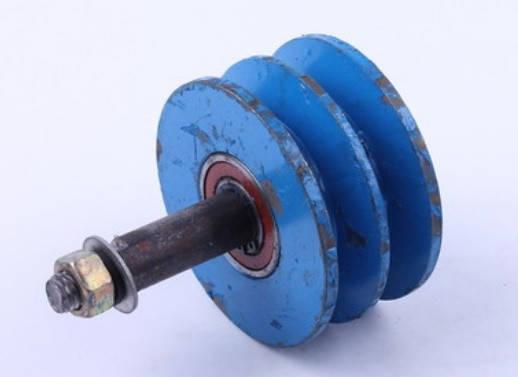 Ролик натяжителя ремня двухручейковый мототрактора колесо 6.00-12, фото 2