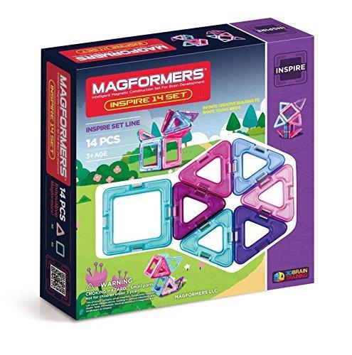 Магнитный конструктор Магформерс Вдохновение на 14 деталей Magformers Оригинал