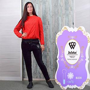 Женские велюровые штаны на меху Jujube B235-1 2XL Размер 44-46