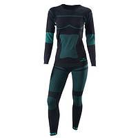 Комплект термобілизни  жіночої Viking ILSA ( Польша ) колір чорний/зелений розмір S