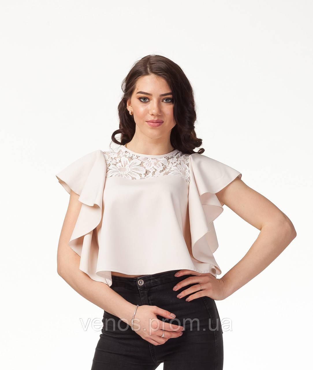 Женская блуза с воланами. К078