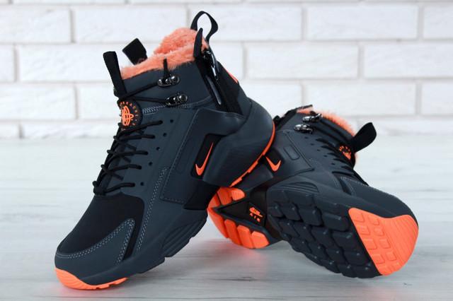 Nike Huarache X Acronym City Winter Grey Orange фото