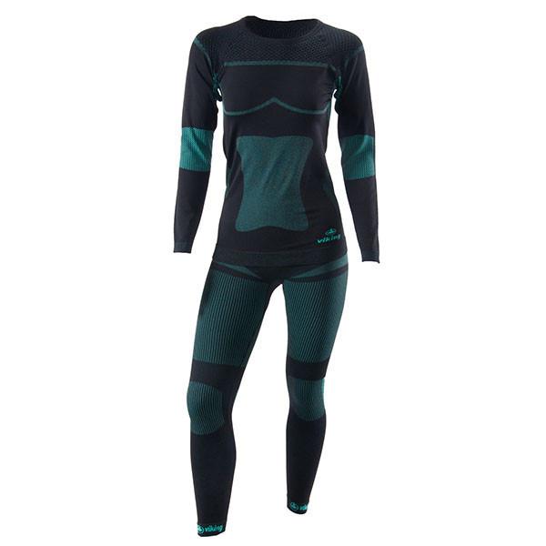 Комплект термобілизни  жіночої Viking ILSA ( Польша ) колір чорний/зелений розмір L