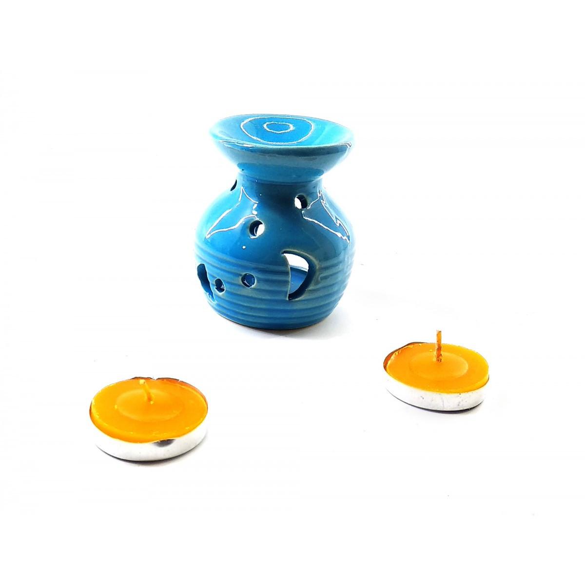 Аромалампа керамическая подарочный набор (12,5х8х7,5 см)