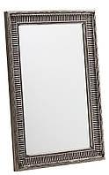 Зеркало антиквариат дерево 90 см серебро