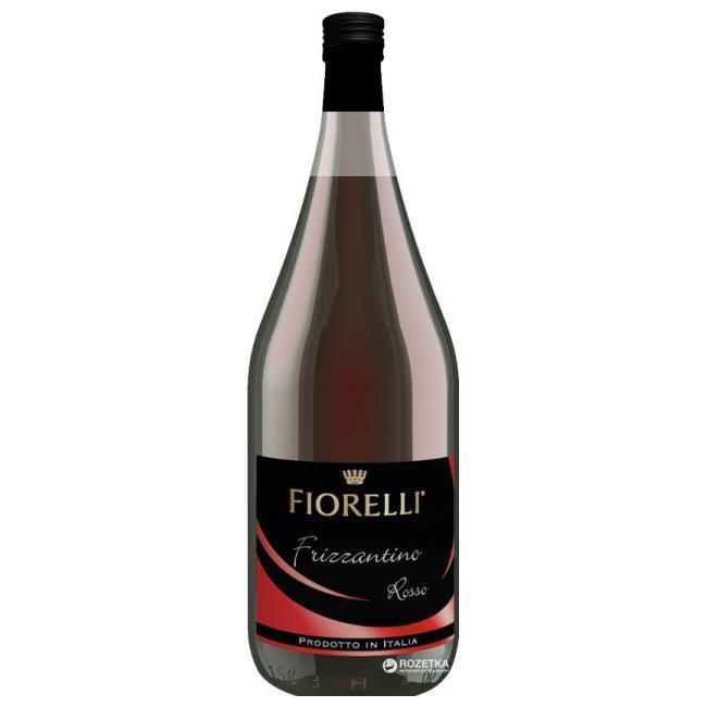 Вино игристое красное Fiorelli Frizzantino Rosso полусладкое 7,5% 1,5л Италия