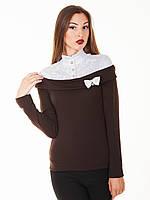 Блузка туника с воротничком