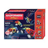Магнітний конструктор Magformers Магформерс Wow Set, 16 деталей Оригінал, фото 1