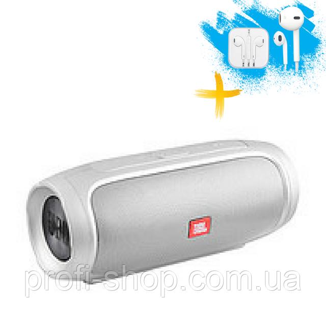 Портативная колонка Bluetooth JBL CHARGE 4 MP3 FM USB. Серебро. Silver