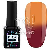 Гель лак Kira Nails Termo №06, 6 мл в холоде темно-малиновый при нагреве оранжевый