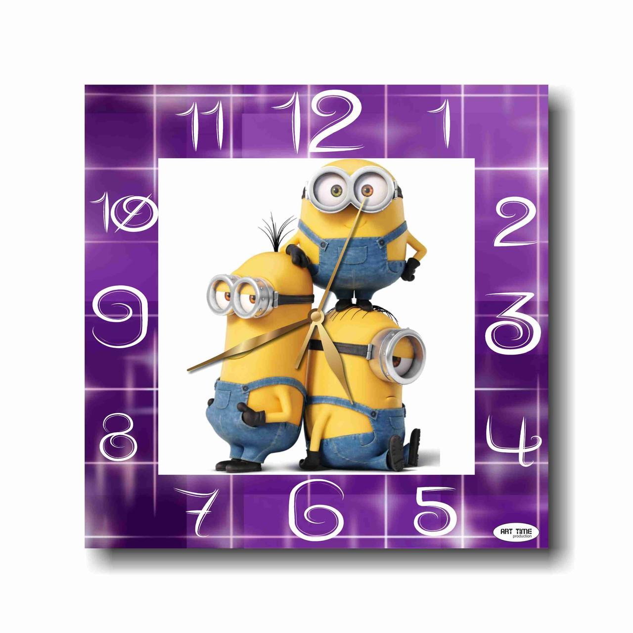 Настенные часы - Миньоны   настінний годинник - Посіпаки   Minions wall  clock dedce6be04ea2