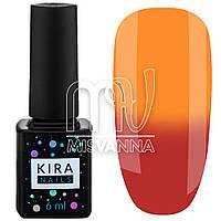 Гель лак Kira Nails Termo №08, 6 мл в холоде малиново-красный при нагреве оранжевый
