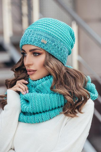 Очень красивый женский набор - шапка и снуд (4 цвета)