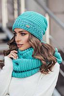 Очень красивый женский набор - шапка и снуд (4 цвета), фото 1