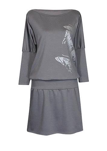 Платье летучая мышь Бабочки французский трикотаж