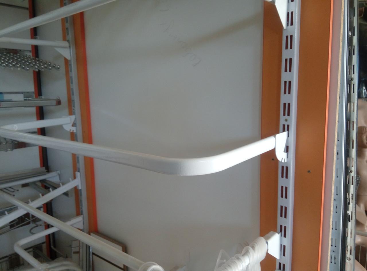 Дуга (штанга) 120см совальна білого кольору для рейкового торгового обладнання виробництво Україна