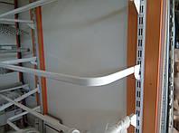 Дуга (штанга) 120см совальна білого кольору для рейкового торгового обладнання виробництво Україна, фото 1